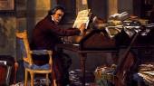 این که ساختار موسیقی بتهوون بسیار محکم است، پس از مرگ او در سال 1827 مشخص شد. دوستان بتهوون در باره کوشش او برای دستیابی به اثری کامل و بدون نقص بسیار گفتهاند. یک اثر نقاشی در این باره.