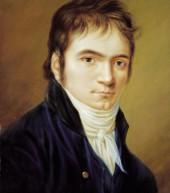 پرتره لودویگ فان بتهوون در سال ۱۸۰۳ اثر کریستیان هورنهمان. چهرهای پرانرژی با لبخندی فروخورده که بیننده را جذب میکند. بتهوون در آن زمان طرفداران بسیاری را در عرصه موسیقی به خود جلب کرده بود.