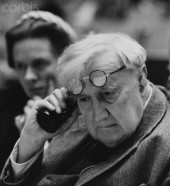English composer Vaughan Williams with his wife, 1958