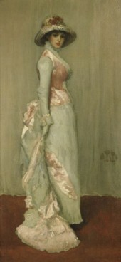 James McNeill Whistler,harmony in pink and grey,portrait of lady meux,1881-1882,oil on canvas