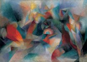 "Stanton Macdonald-Wright, ""Oriental""; Synchromy in Blue-Green, 1918"