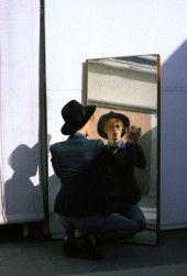 David Bowie during the filming of The Man Who Fell to Earth