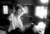 David Bowie photographed during the filming of The Man Who Fell To Earth