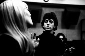 Nico and Lou Reed in Recording Studio