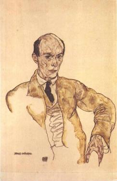 Arnold Schoenberg, by Egon Schiele 1917,