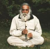 محمدرضا لطفی در حال نوازندگی نی