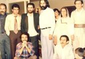 محمدرضا لطفی در کنار شهرام ناظری، محمدرضا شجریان و خانواده کامکار
